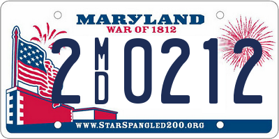 MD license plate 2MD0212