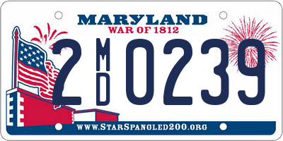 MD license plate 2MD0239