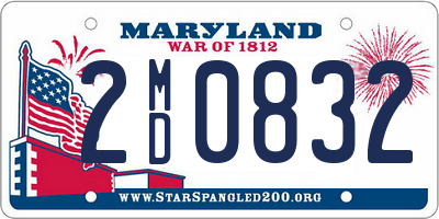 MD license plate 2MD0832