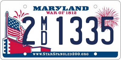 MD license plate 2MD1335