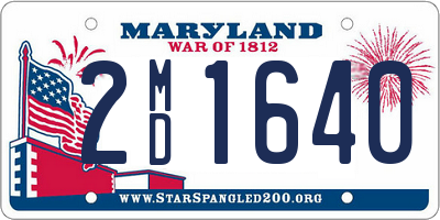 MD license plate 2MD1640
