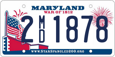 MD license plate 2MD1878