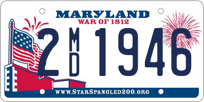 MD license plate 2MD1946