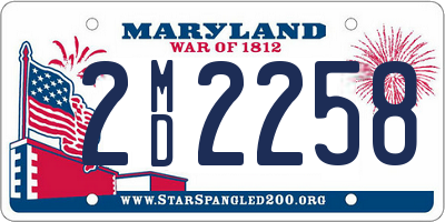 MD license plate 2MD2258