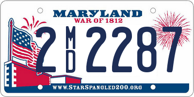 MD license plate 2MD2287