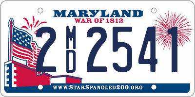 MD license plate 2MD2541