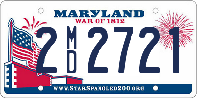 MD license plate 2MD2721