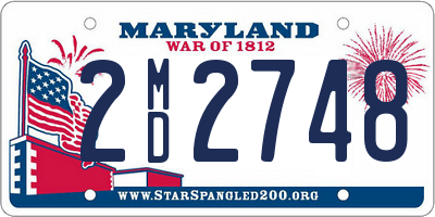 MD license plate 2MD2748