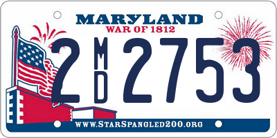 MD license plate 2MD2753