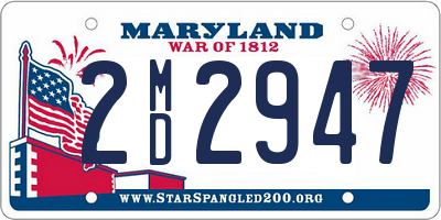 MD license plate 2MD2947