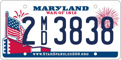 MD license plate 2MD3838