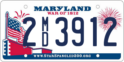 MD license plate 2MD3912