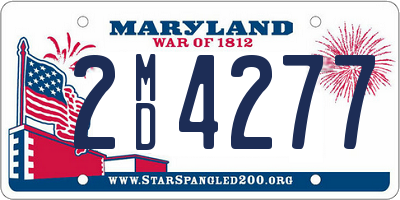 MD license plate 2MD4277