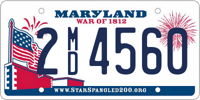 MD license plate 2MD4560