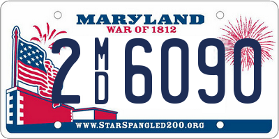 MD license plate 2MD6090