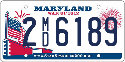 MD license plate 2MD6189