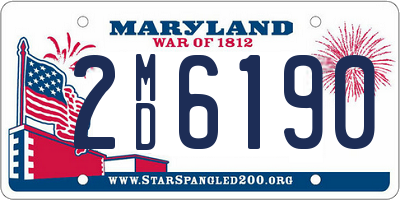 MD license plate 2MD6190