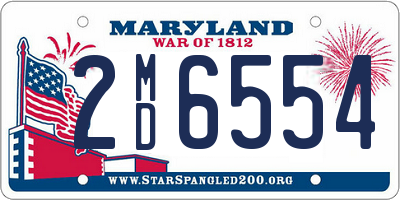 MD license plate 2MD6554