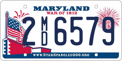 MD license plate 2MD6579