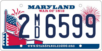 MD license plate 2MD6599