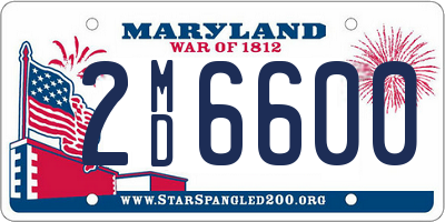 MD license plate 2MD6600