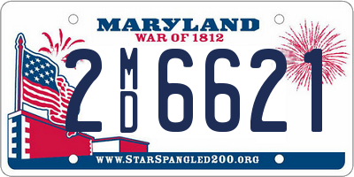 MD license plate 2MD6621