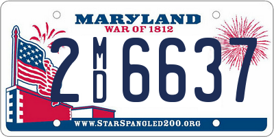 MD license plate 2MD6637