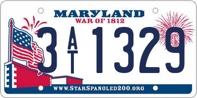 MD license plate 3AT1329