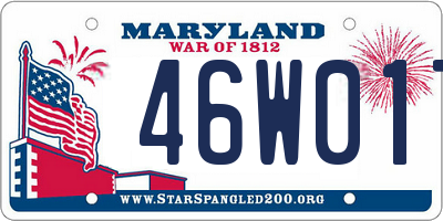 MD license plate 46W017