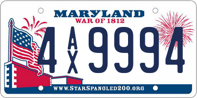 MD license plate 4AX9994
