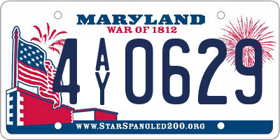 MD license plate 4AY0629