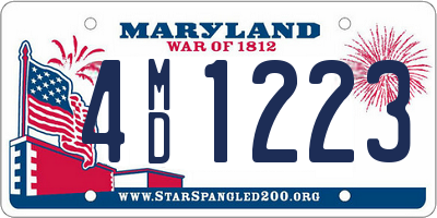 MD license plate 4MD1223
