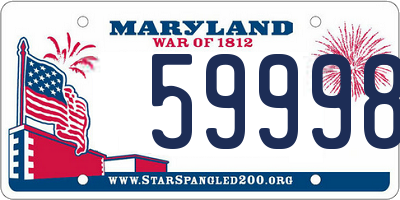 MD license plate 59998