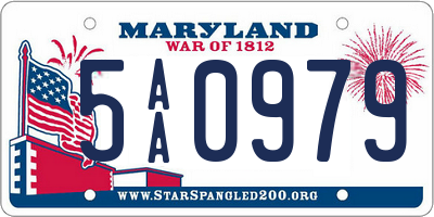 MD license plate 5AA0979