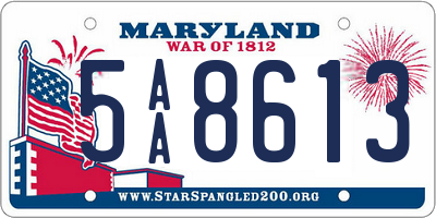 MD license plate 5AA8613