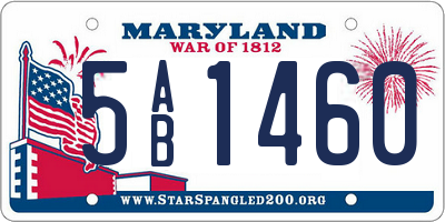 MD license plate 5AB1460