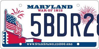 MD license plate 5BDR28