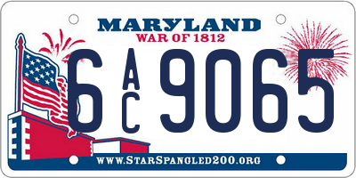 MD license plate 6AC9065