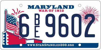 MD license plate 6BE9602