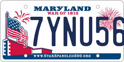 MD license plate 7YNU563