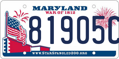 MD license plate 81905CF