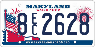MD license plate 8EC2628
