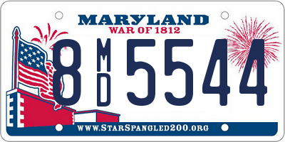 MD license plate 8MD5544