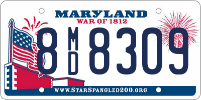 MD license plate 8MD8309
