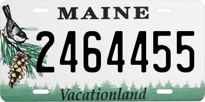 ME license plate 2464455