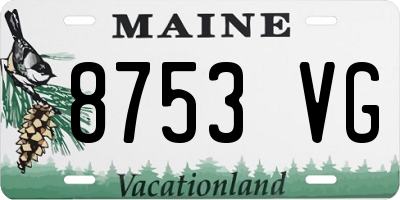 ME license plate 8753VG