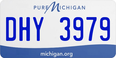 MI license plate DHY3979