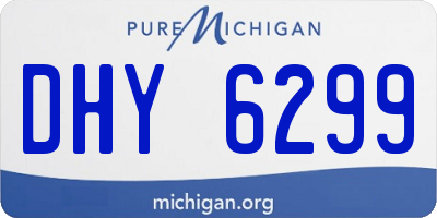 MI license plate DHY6299