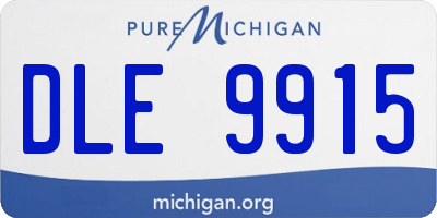 MI license plate DLE9915