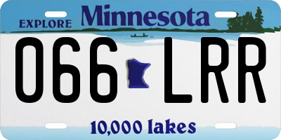 MN license plate 066LRR